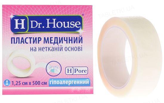 Пластырь медицинский Dr. House бактерицидный на нетканой основе, 1,25 см х 500 см, 1 штука
