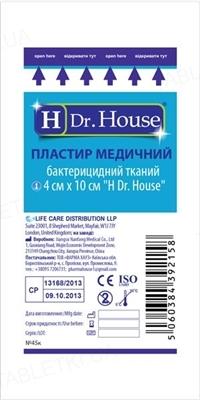 Пластырь медицинский Dr. House бактерицидный на тканевой основе 4 см х 10 см, 1 штука
