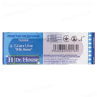 Пластир медичний Dr. House бактерицидний на тканинній основі 1,9 см х 7,2 см, 1 штука