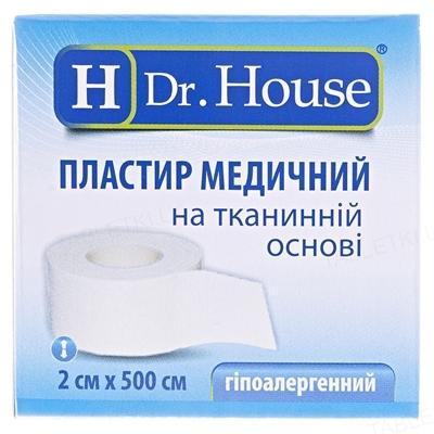 Пластырь медицинский Dr. House на тканевой основе 2 см х 500 см в картонной упаковке, 1 штука