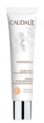 Крем Caudalie Vinoperfect тонирующий светлый тон идеальная кожа, защита от пигментации SPF 20, 40 мл