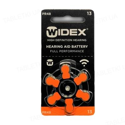 Батарейка Widex 13 AUX для слуховых аппаратов