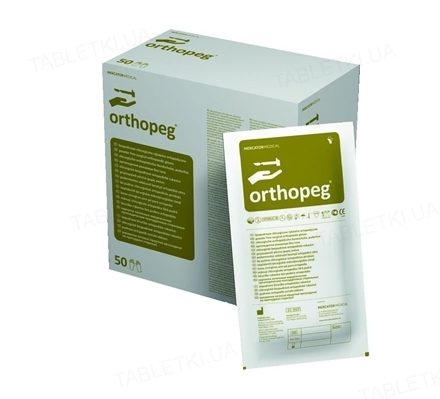 Перчатки хирургические Mercator Medical Orthopeg стерильные латексные неопудренные, размер 7