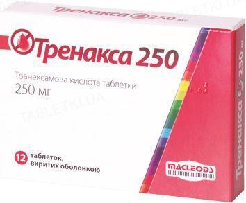 Тренакса 250 таблетки, п/о по 250 мг №12 (6х2)