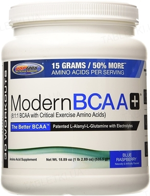 Аминокислота USPlabs Modern BCAA+ Blue Raspberry, 535 г