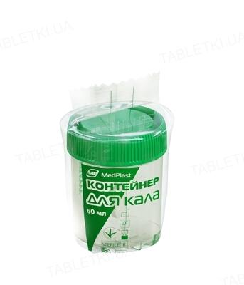 Контейнер для кала MP MedPlast стерильный 60 мл, 1 штука