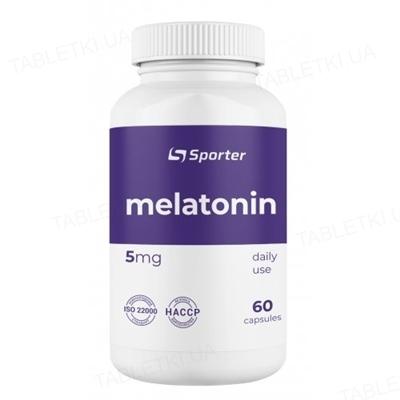 Мелатонин Sporter Melatonin 5 мг, 60 капсул