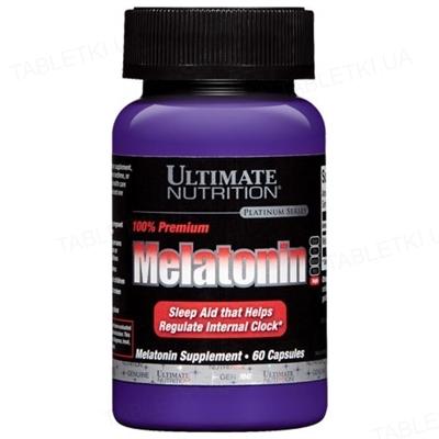 Аминокислота Ultimate Nutrition Премиум Мелатонин, 60 капсул