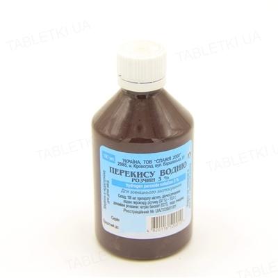Перекись водорода раствор д/наруж. прим., вод. 3 % по 100 мл во флак.