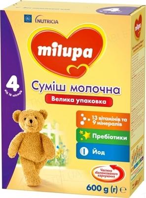 Суха молочна суміш Milupa 4 для дітей з 18 місяців, 600 г