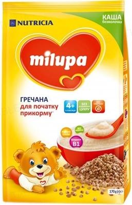 Безмолочная каша Milupa гречневая для детей с 4 месяцев, 170 г