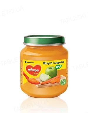 Фруктово-овощное пюре Milupa Яблоко и морковь для детей с 6 месяцев, 125 г
