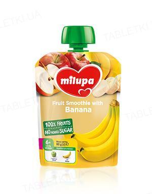 Фруктовое пюре Milupa Яблоко и Банан для детей с 6 месяцев, 80 г
