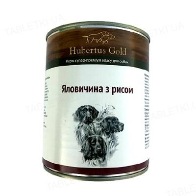 Консерва для собак Hubertus Gold Говядина и рис, 800 г