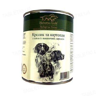 Консерва для собак Hubertus Gold Кролик с картофелем, с маслом из зародышей пшеничных зерен, 800 г