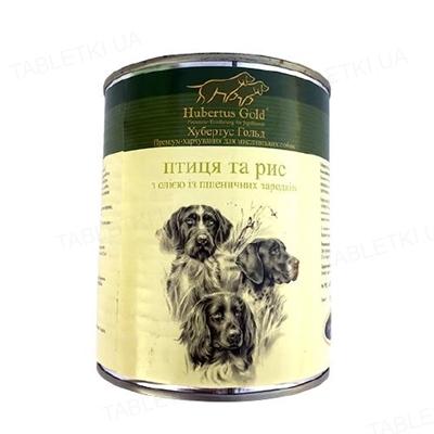 Консерва для собак Hubertus Gold Птица и рис, с маслом из зародышей пшеничных зерен, 800 г