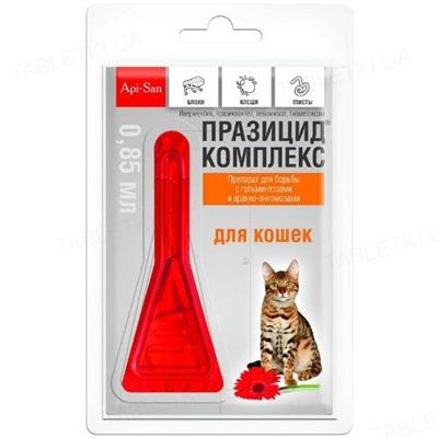 Празицид комплекс капли для кошек, 1 пипетка по 0,85 мл