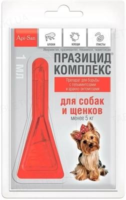Празицид комплекс для собак и щенков до 5 кг, 1 пипетка по 1 мл