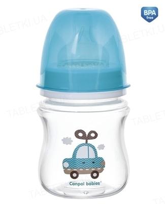 Бутылочка антиколиковая Canpol Babies EasyStart Toys 35/220_blu с широким отверстием, 120 мл