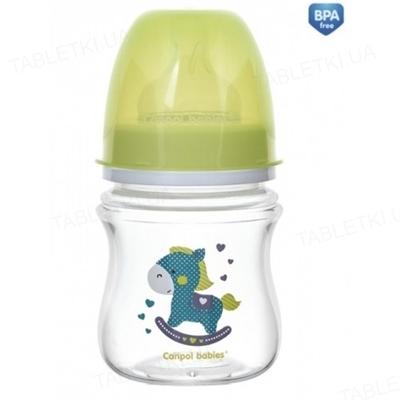 Бутылочка антиколиковая Canpol Babies EasyStart Toys 35/220_gre с широким отверстием, 120 мл