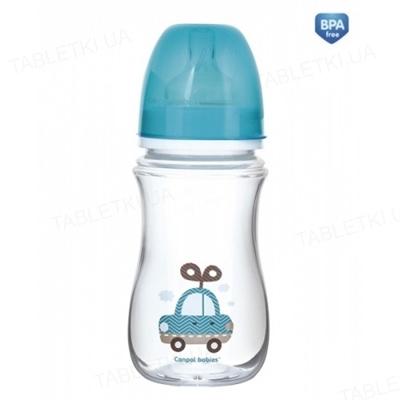 Бутылочка антиколиковая Canpol Babies EasyStart Toys 35/221_blu с широким отверстием, 240 мл
