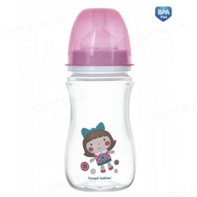 Бутылочка антиколиковая Canpol Babies EasyStart Toys 35/221_pin с широким отверстием, 240 мл