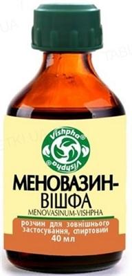 Меновазин-Вішфа розчин д/зовн. заст., спирт. по 40 мл у флак.