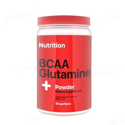 Аминокислота AB PRO BCAA + Glutamine (глютамин) Powder, клубника, 1000 г