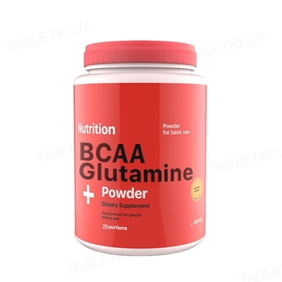 Аминокислота AB PRO ВСАА + Glutamine (глютамин) Powder, клубника, 236 г