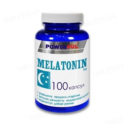 Мелатонин POWERFUL капсулы по 1 мг №100 в бан.