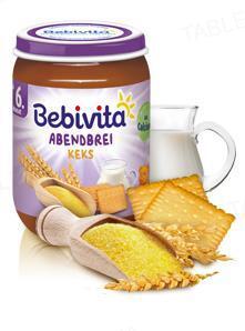 Молочная каша Bebivita с печеньем Спокойной ночи, 190 г