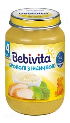 Мясо-овощное пюре Bebivita Брокколи с индейкой, 190 г