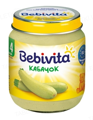 Овощное пюре Bebivita Кабачок, 125 г