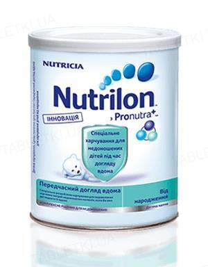 Суха молочна суміш Nutrilon передчасно догляд вдома для харчування дітей від народження, 400 г