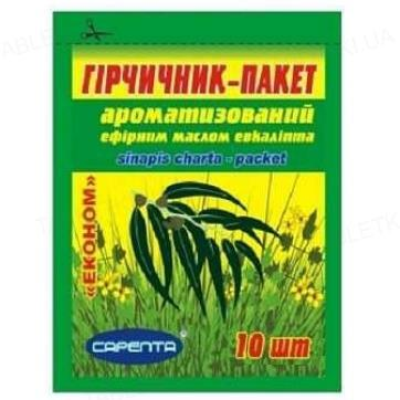 Горчичник-пакет Сарепта эконом ароматизированный с эвкалиптом, 10 штук