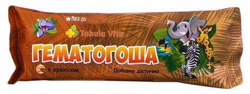 Батончик Гематогоша Табула Віта з арахісом, 40 г
