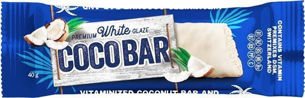Батончик Coco Bar витаминизированный кокосовый в белой шоколадной глазури, 40 г