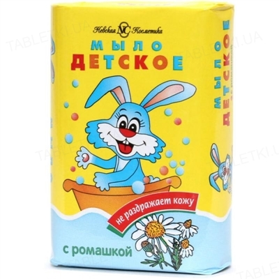 Мыло твердое Невская косметика Детское с ромашкой, 90 г