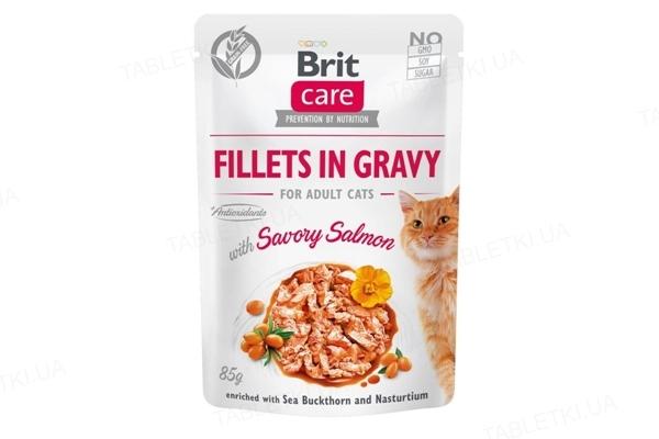 Корм влажный для кошек Brit Care Cat pouch пикантный лосось, 85 г