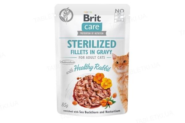 Корм влажный для кошек Brit Care Cat pouch со вкусом кролика, 85 г