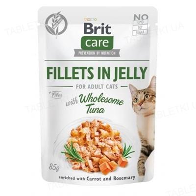 Корм влажный для кошек Brit Care Cat pouch тунец в желе, 85 г