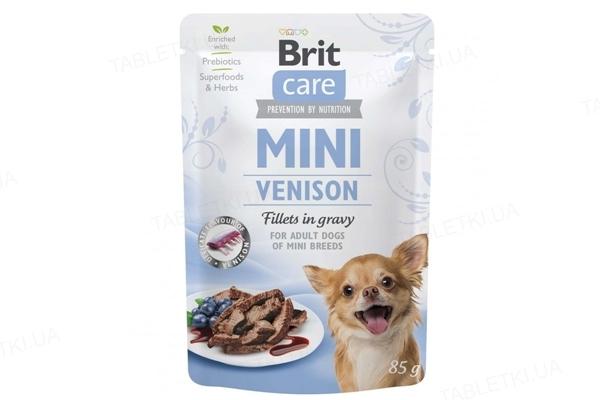 Корм влажный для собак Brit Care Mini филе дичи в соусе, 85 г
