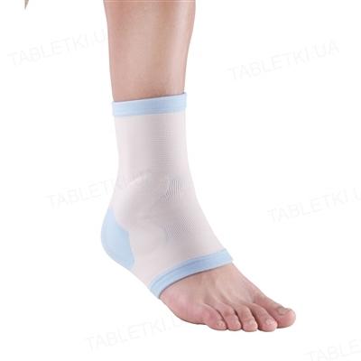 Бандаж для голеностопного сустава WellCare 62024 эластичный с силиконовой накладкой, размер L