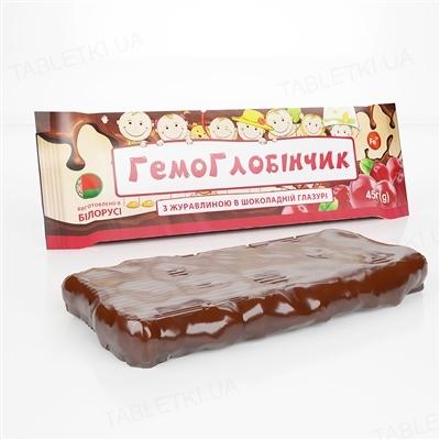 Гемоглобінчик з журавлиною в шоколадній глазурі плитка, 40 г