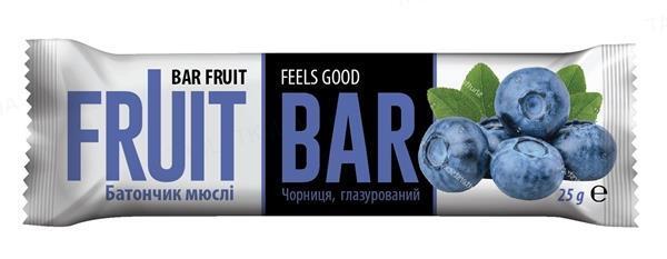Батончик-мюсли Fruit Bar с черникой, 25 г