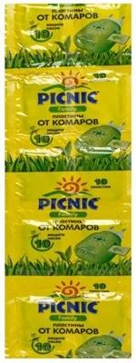 Пластины от комаров Picnic Family защита на 8 часов, 10 штук
