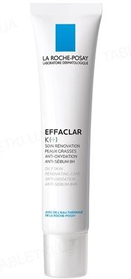 Відновлюючий засіб La Roche-Posay Effaclar К +, для догляду за комбінованою і жирної шкіри обличчя, 40 мл