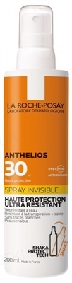 Спрей La Roche-Posay Anthelios, сонцезахисний ультралегкий для шкіри обличчя і тіла, SPF 30, 200 мл