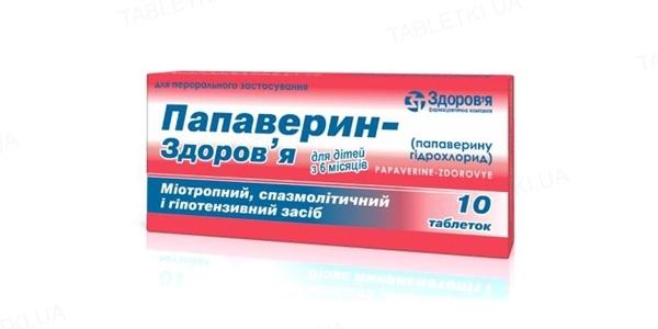 Папаверин-Здоровье таблетки по 10 мг №10