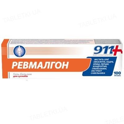 911 Ревмалгон гель-бальзам для суставов по 100 мл в тубах